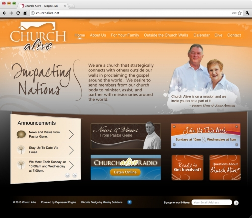 Church Alive's New Site.